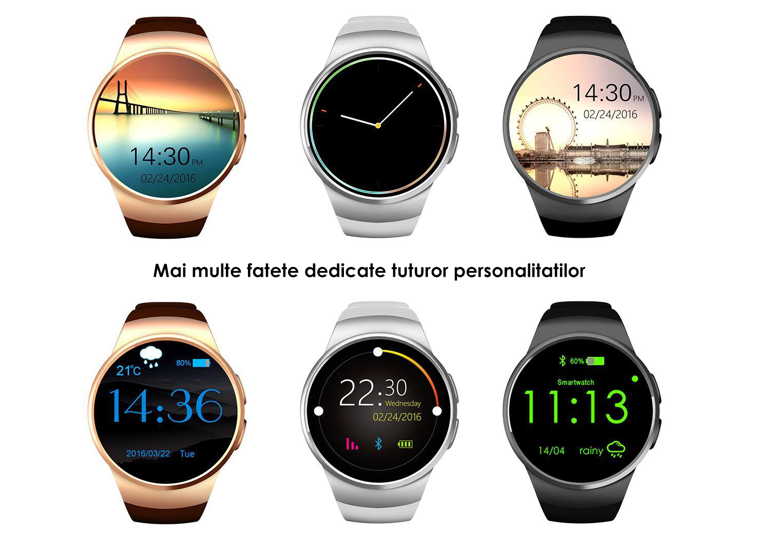 ceas smartwatch telefon si notificari